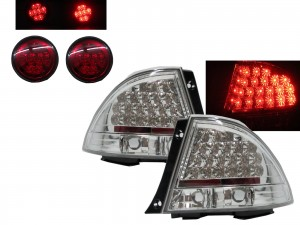 CrazyTheGod IS IS200/IS300 XE10 1999-2005 Sedan/Hatchback/Wagon 4D/5D LED Tail Rear Light Chrome for LEXUS