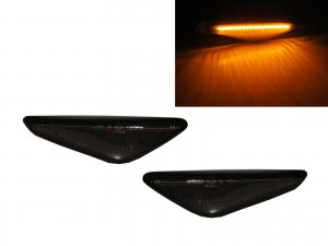 CrazyTheGod X6 E71 First generation 2008-2014 SUV 5D LED Side Marker Light Lamp Smoke for BMW