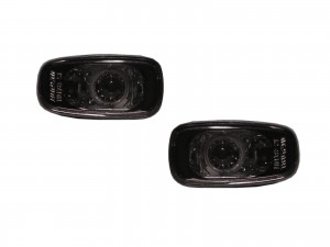 CrazyTheGod IS IS200/IS300 XE10 First generation 1999-2005 Sedan 4D Clear Side Marker Light Lamp Smoke for LEXUS