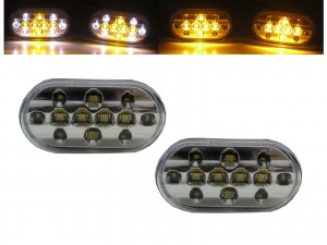 CrazyTheGod Wagon R MC21S/11S/22S/12S Second generation 1998-2003 Wagon 4D/5D Dual LED Side Marker Light Lamp Chrome for SUZUKI