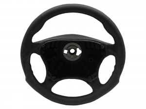 CrazyTheGod W220 1998-2005 STEERING WHEEL SPORT ALL BLACK Leather for Mercedes-Benz